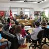Minik Satranççılar Başkan Hekimoğlu'nu Ziyaret Ettiler