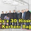 Şavşat Kızılay'a 30 Hisse Adak Kurbanı Bağışı
