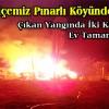 İlçemiz Pınarlı Köyünde Yangın