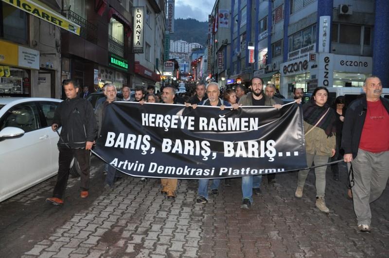 Artvin'de Ankara'daki Patlamaları Protesto Eden 6 Kişi İfade Verdi