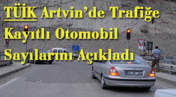 TÜİK Artvin'de Trafiğe Kayıtlı Otomobil Sayılarını Açıkladı