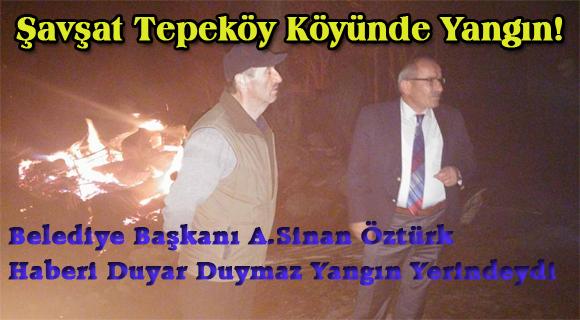 Şavşat Tepeköy Köyünde Yangın