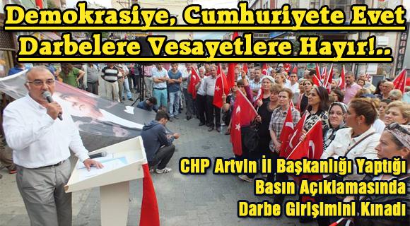 Demokrasiye, Cumhuriyete Evet  Darbelere Vesayetlere Hayır!..