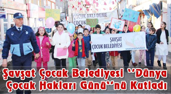 Şavşat Çocuk Belediyesi Dünya Çocuk Hakları Günü'nü Kutladı