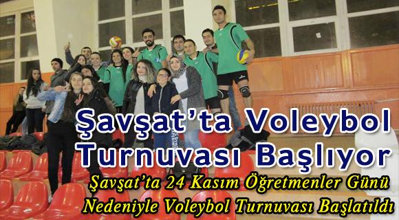 Şavşat'ta Voleybol Turnuvası Başlıyor