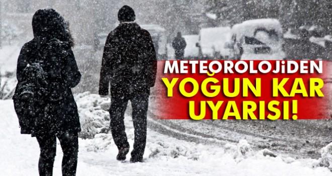 Meteoroloji uyardı Yoğun Kar Yağışı Geliyor!