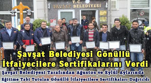 Şavşat Belediyesi Gönüllü İtfaiyecilere Sertifikalarını Verdi