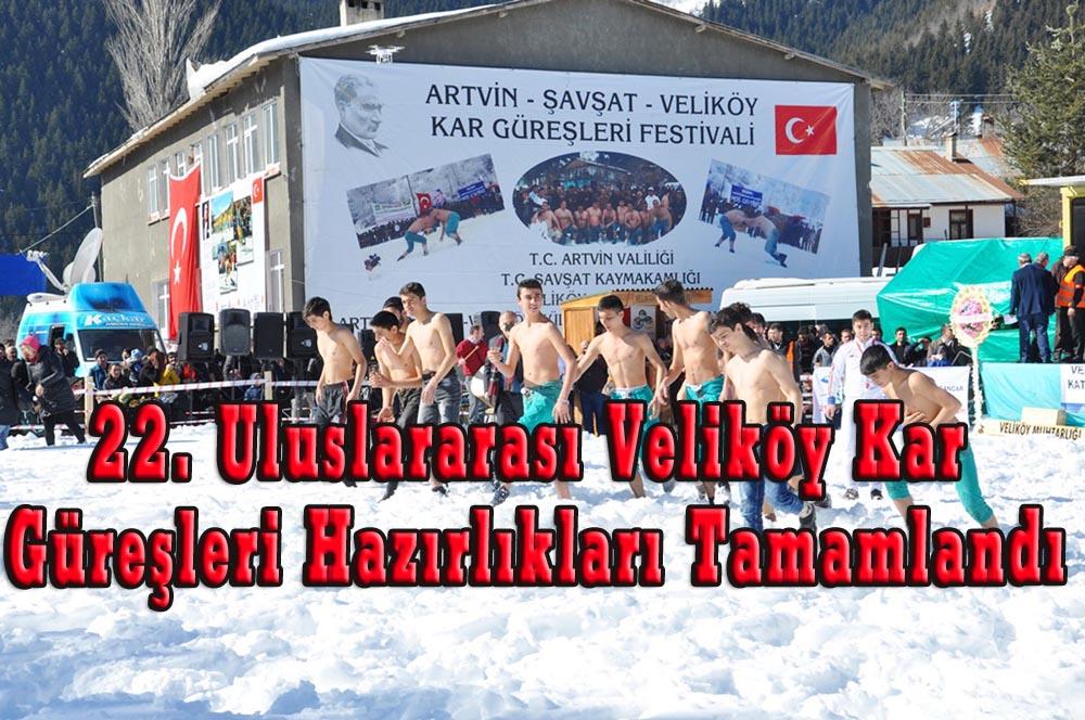 22. Uluslararası Veliköy Kar Güreşleri Hazırlıkları Tamamlandı