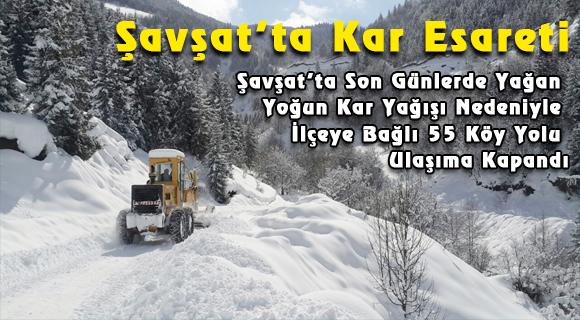 Şavşat'ta Kar Esareti
