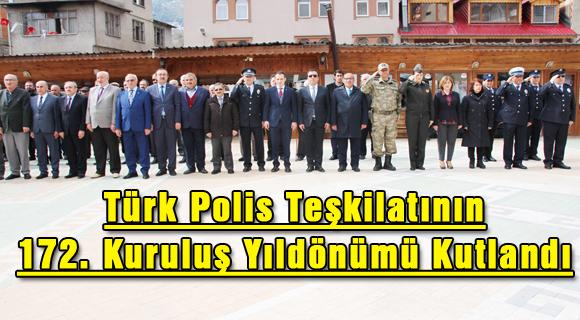 Türk Polis Teşkilatının 172. Kuruluş Yıldönümü Kutlandı