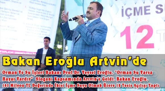 Bakan Eroğlu Artvin'de