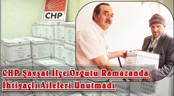 CHP Şavşat İlçe Örgütü Ramazanda İhtiyaçlı Aileleri Unutmadı