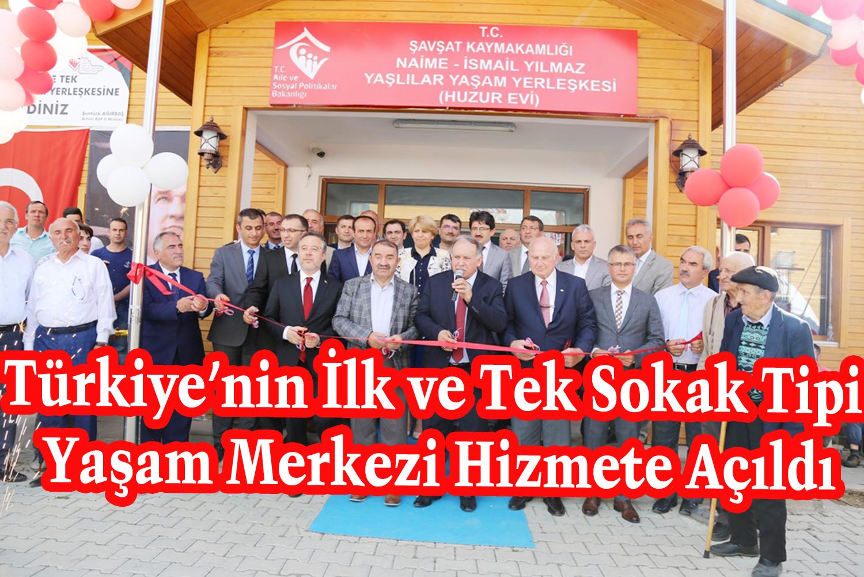 Türkiye'nin İlk ve Tek Sokak Tipi Yaşam Merkezi Hizmete Açıldı