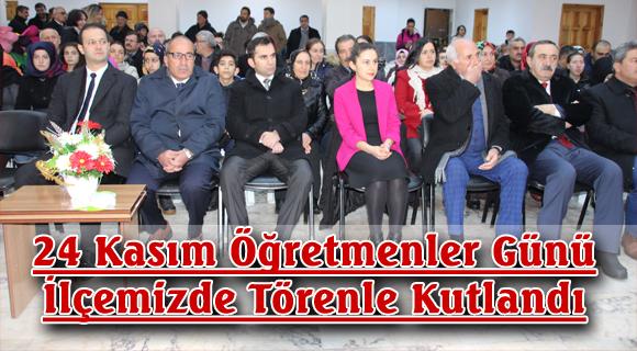 24 Kasım Öğretmenler Günü  İlçemizde Törenle Kutlandı