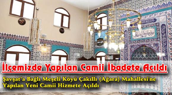 İlçemizde Yapılan Camii İbadete Açıldı