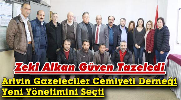 Artvin Gazeteciler Cemiyeti Derneği Yeni Yönetimini Seçti