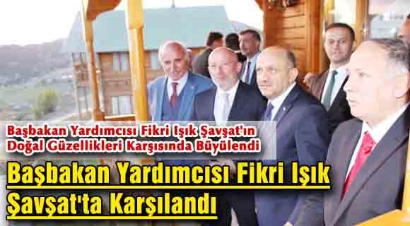 Başbakan Yardımcısı Fikri Işık Şavşat'ta Karşılandı